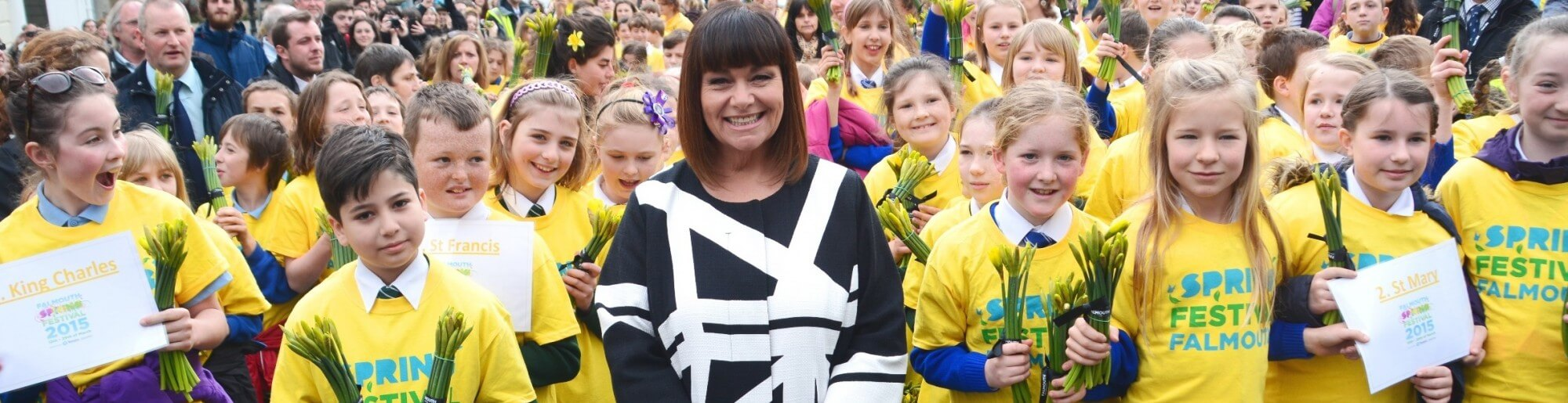 Dawn French was part of the 2015 Yellow procession