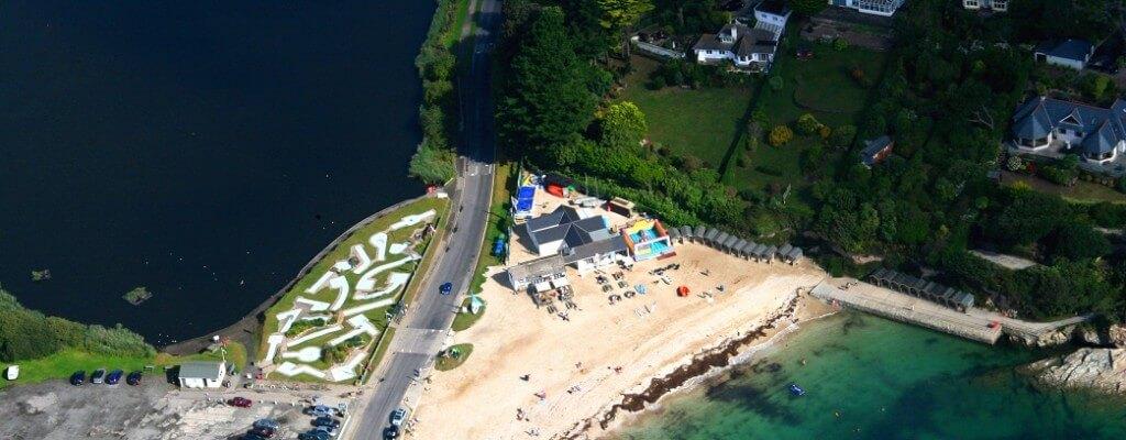 Swanpool Beach aerial