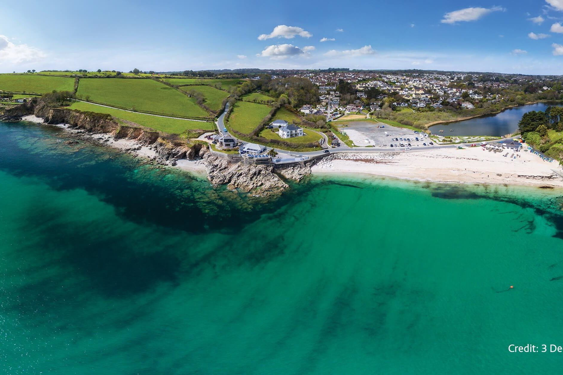 aerial view, birds eye, landscape, swanpool beach, #LoveFalmouth. #LoveTheSea, falmouth