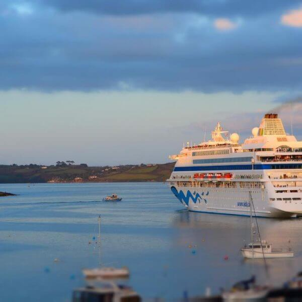 Cruise ships in Falmouth