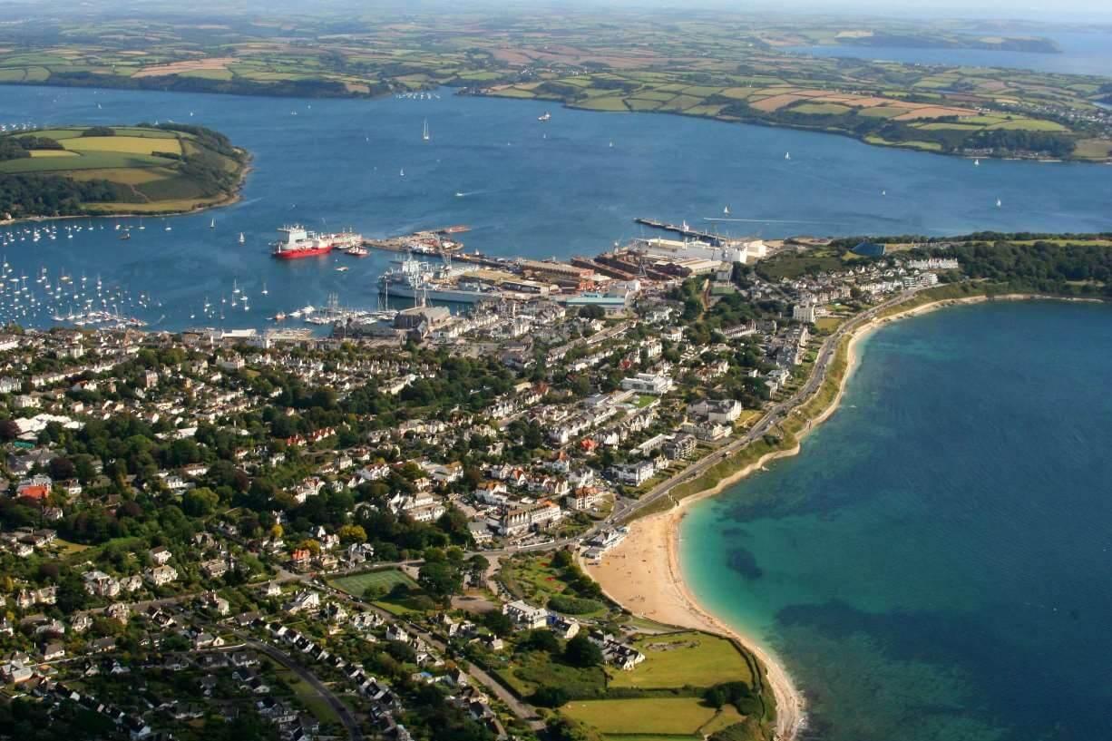 Falmouth town aerial