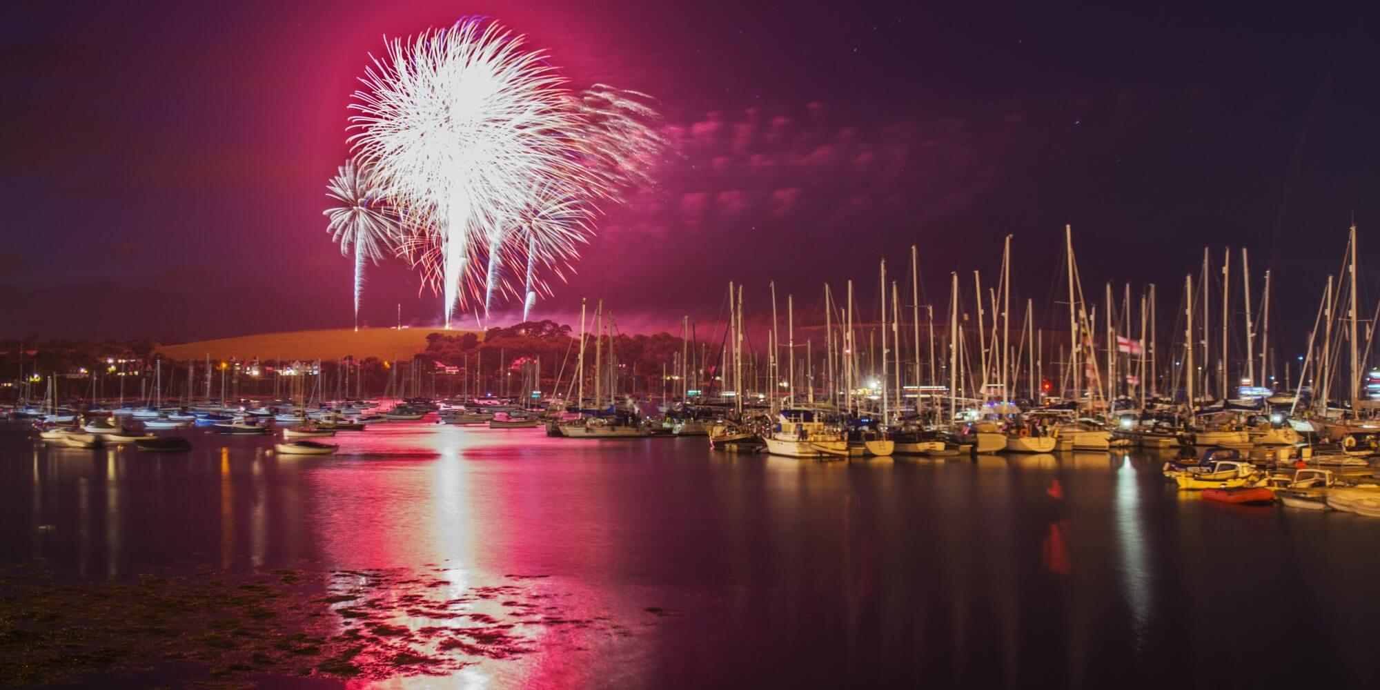 Falmouth Week, fireworks, falmouth. cornwall, display